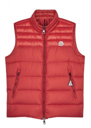 51fd518f5d70 Moncler Dupres red quilted shell gilet – RED. Moncler Jacket Mens ...