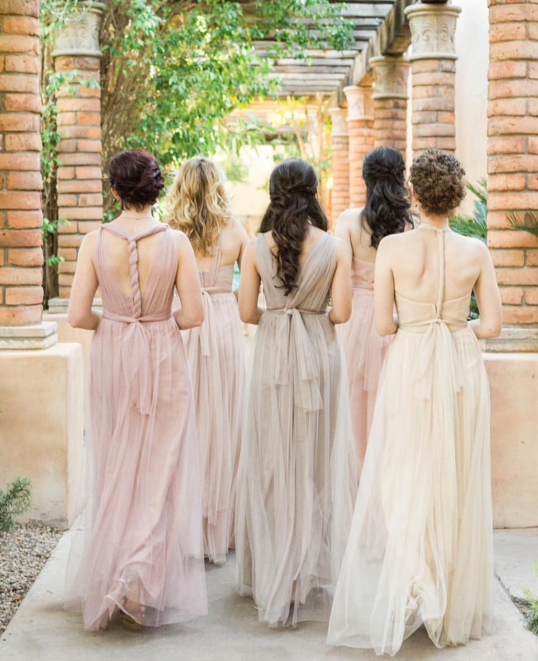 0d04188462e Annabelle Dress in Shades of Neutrals! So many ways to tie the back!Jenny  Yoo Bridesmaids