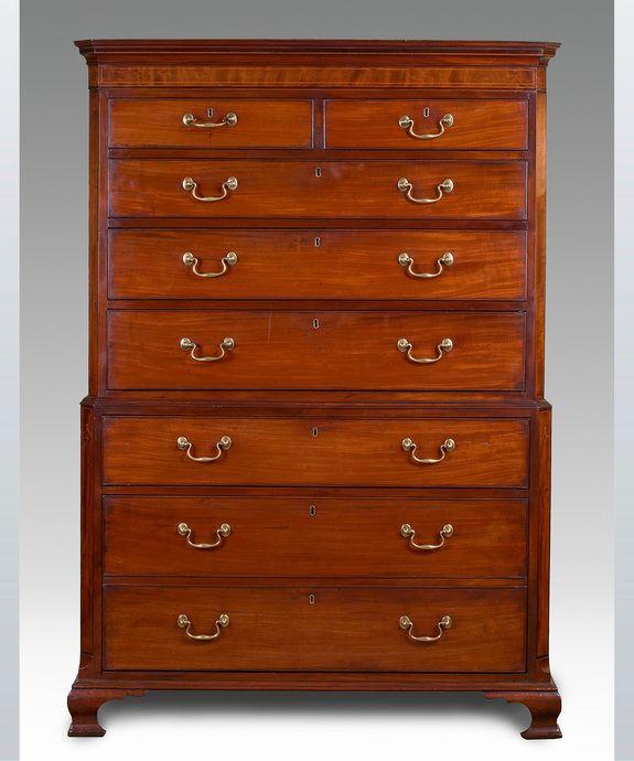 A Georgian Period Mahogany Tallboy Delightful Furniture British Furniture English Furniture Style