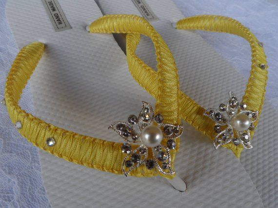 1d405243eea4 These Bridal Flip Flops with Starfish Rhinestone embellished are the  perfect gift for a bride.