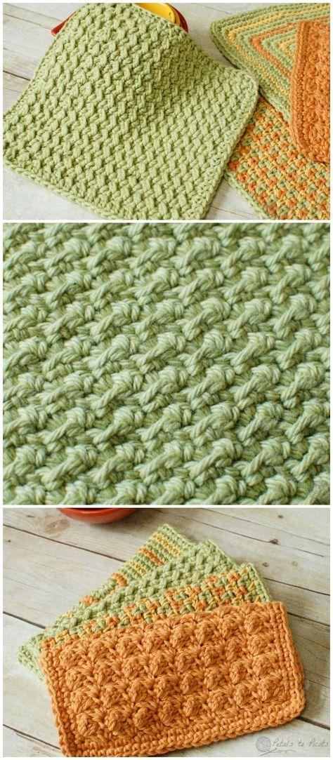 Crochet Dishcloth Patternto Beautify Your Kitchen Crochet