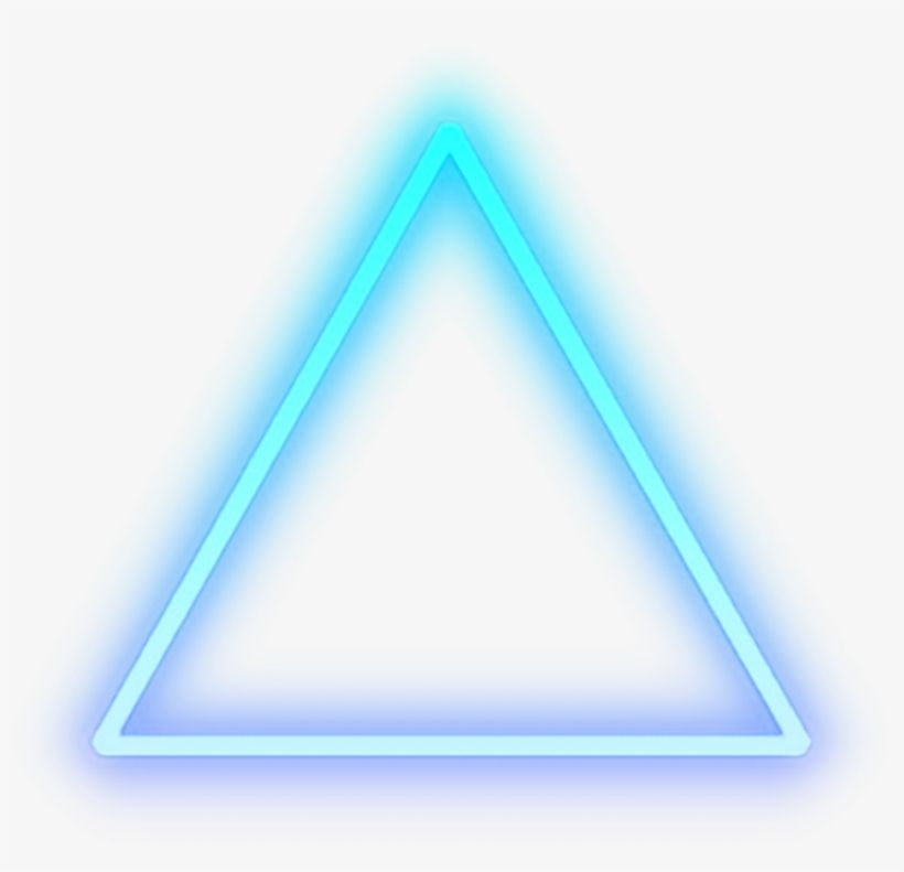 Download Triangle Blue Glow Light Shape Cool Neon Png For Picsart Png Image For Free Search More High Quality F Neon Png Black Colour Background Picsart Png