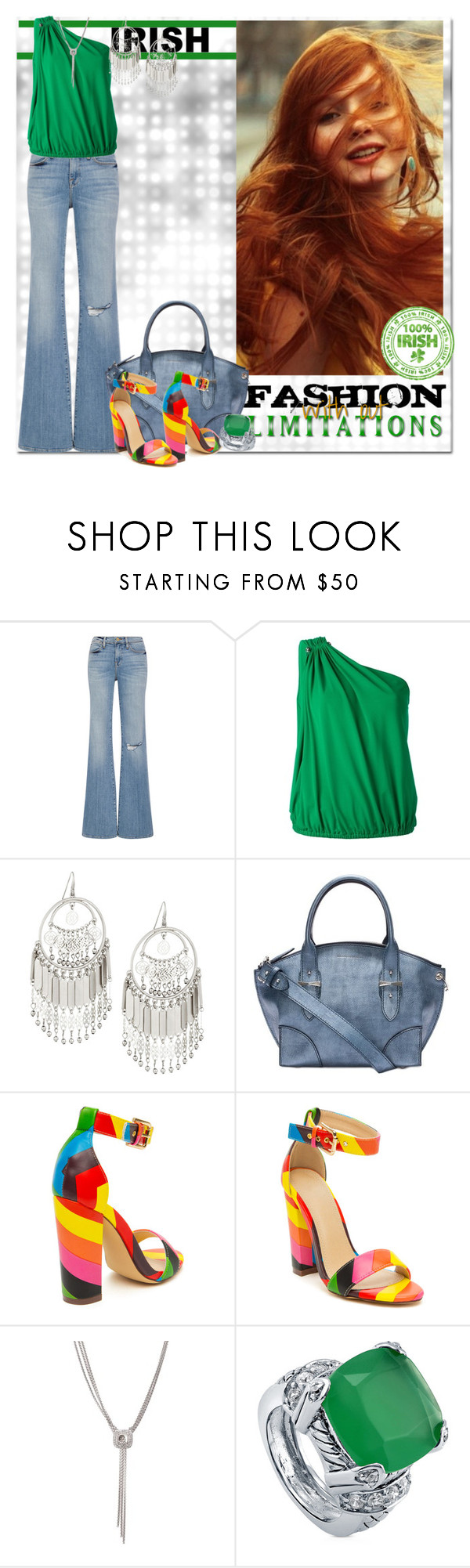 """""""Lucky Trend"""" by msmith801 ❤ liked on Polyvore featuring Frame Denim, Lanvin, Lydell NYC, Alexander McQueen, David Yurman and BERRICLE"""