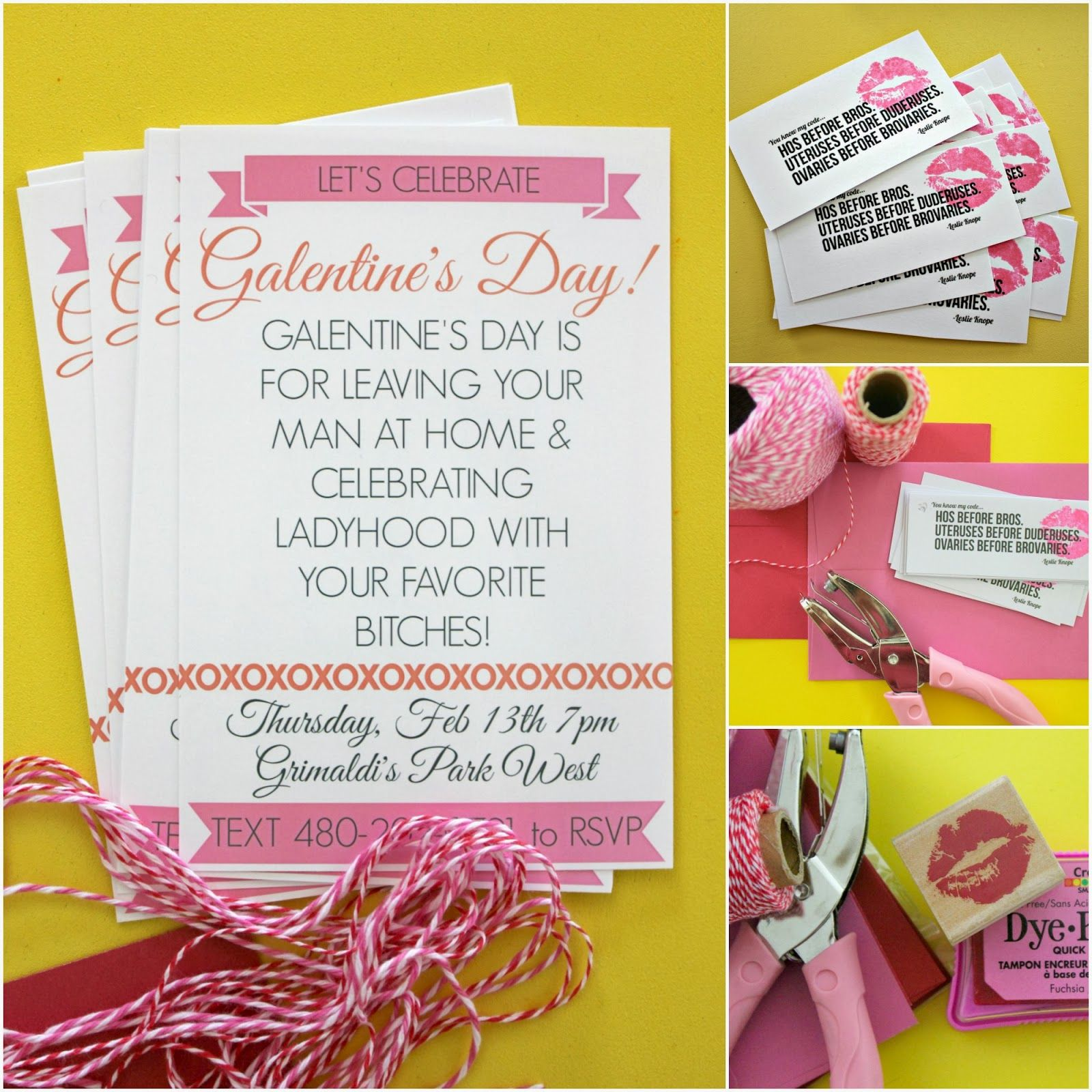 Make Galentine\'s Day Invitations! | Party Themes/ Ideas | Pinterest ...