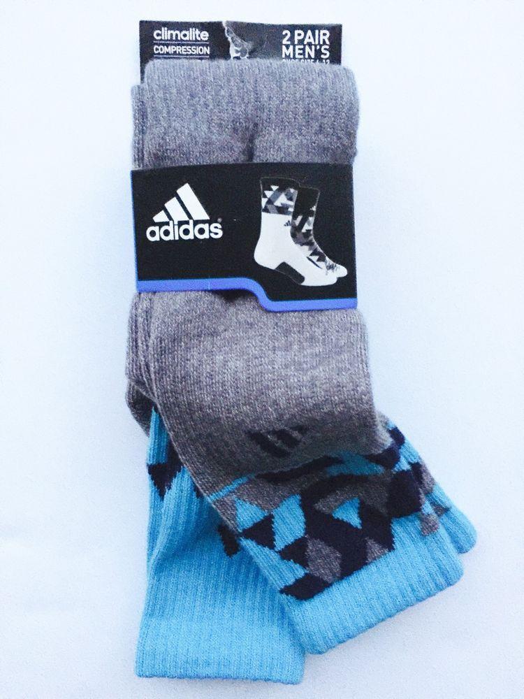 Adidas 2 Pair Mens Energy Camo Crew Socks Compression ClimaLite Shoe Sz 6 12 New | eBay