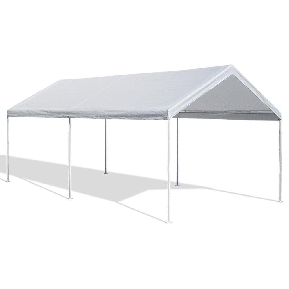 canopy domain caravan carport 10 x 20 tent garage shelter white shade party car #Caravan  sc 1 st  Pinterest & canopy domain caravan carport 10 x 20 tent garage shelter white ...