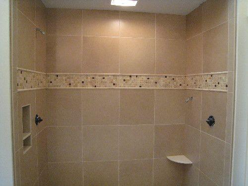 Bellevue Bathroom Travertine Mosaic Tile Custom Tile Installation 98005 98006 98007 98008