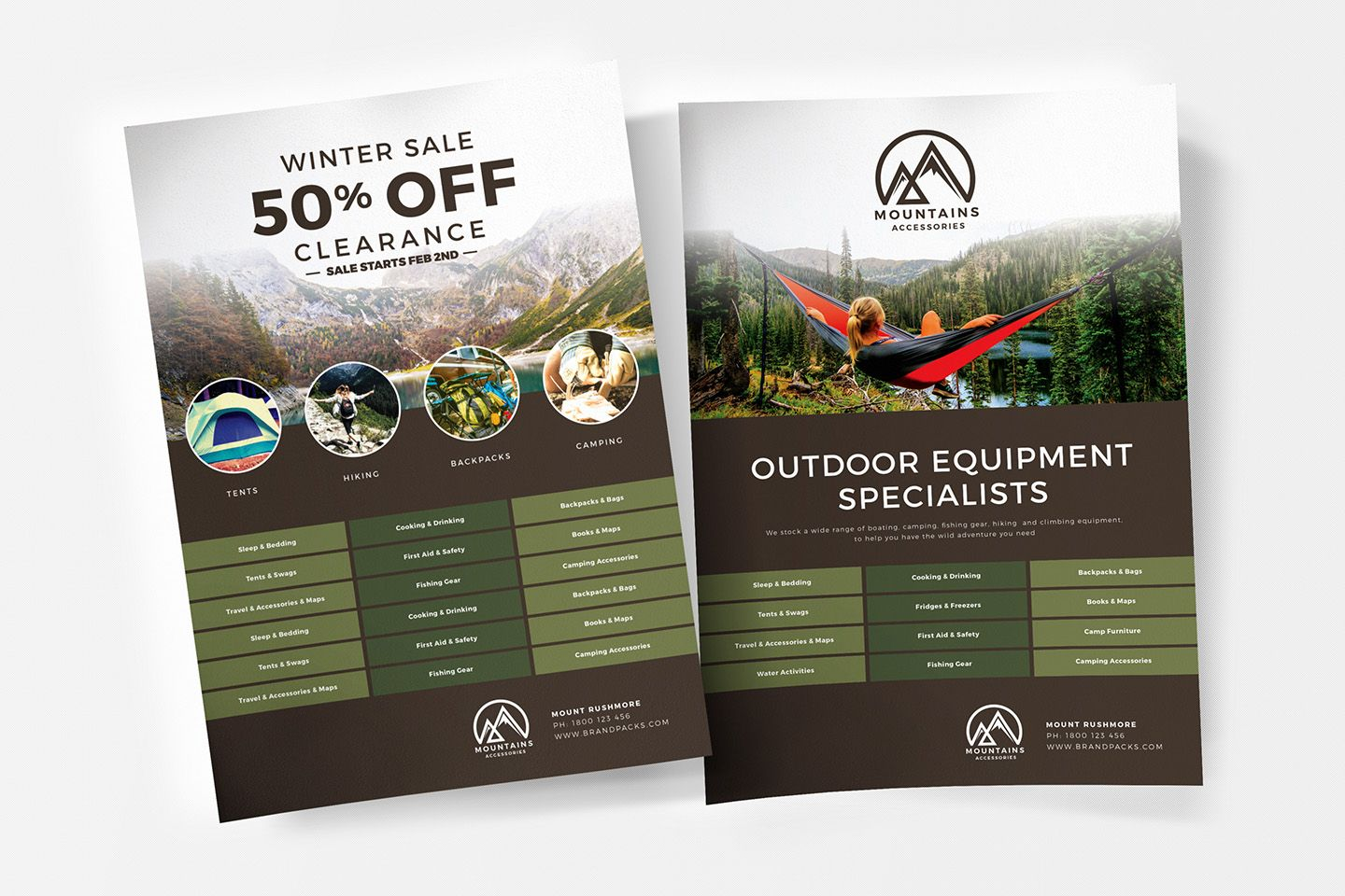 Free Camping Poster Template For Photoshop Illustrator Brandpacks Flyer Template Poster Template Templates