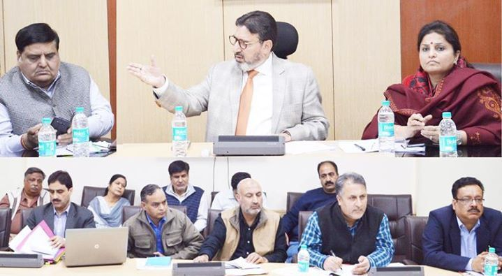 minister for education syed mohammad altaf bukhari chairing a