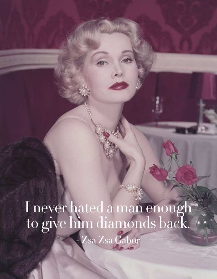 Zsa Zsa Gabor Quotes Cool Zsa Zsa Gabor Best Quotes  Powerful Quotes  Pinterest  Zsa Zsa
