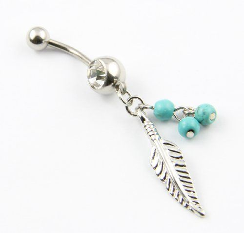This is a eye-catching special designed leaf belly navel bar ring.     Quality guaranteed. Please contact us immediately with any quality issues.     Low price, in stock for shipping from China     We don't recommend sleeping in this belly ring. It can be uncomfortable and cause the belly ring to break.