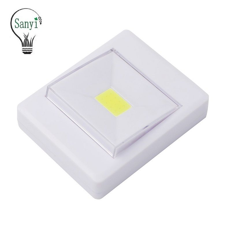 Mini Cob Led Cordless Lamp Switch Wall Night Lights Battery Operated Kitchen Cabinet Garage Closet Camp Emergency L Night Light Led Night Light Led Wall Lights