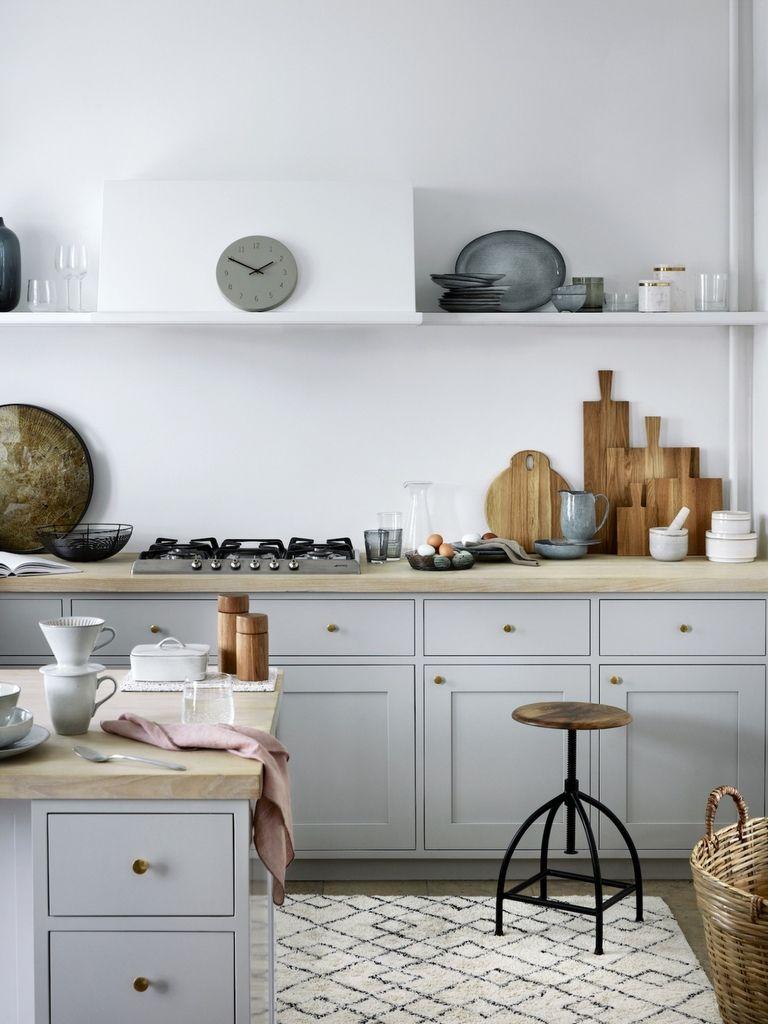 Cuisine gris clair : nos inspirations déco  Cuisine grise clair