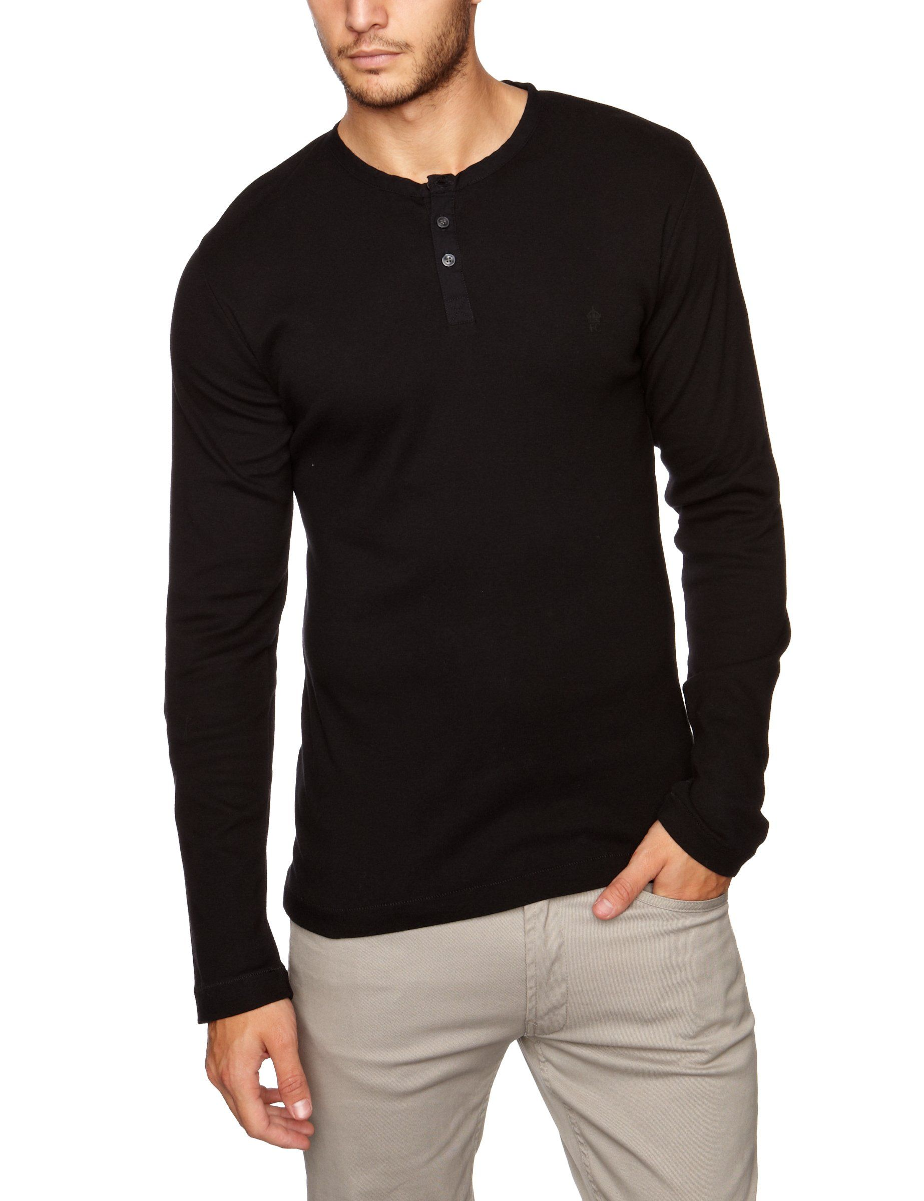 9935afe90a8f5 French Connection Men s Henleys Crew Neck Long Sleeve Tee