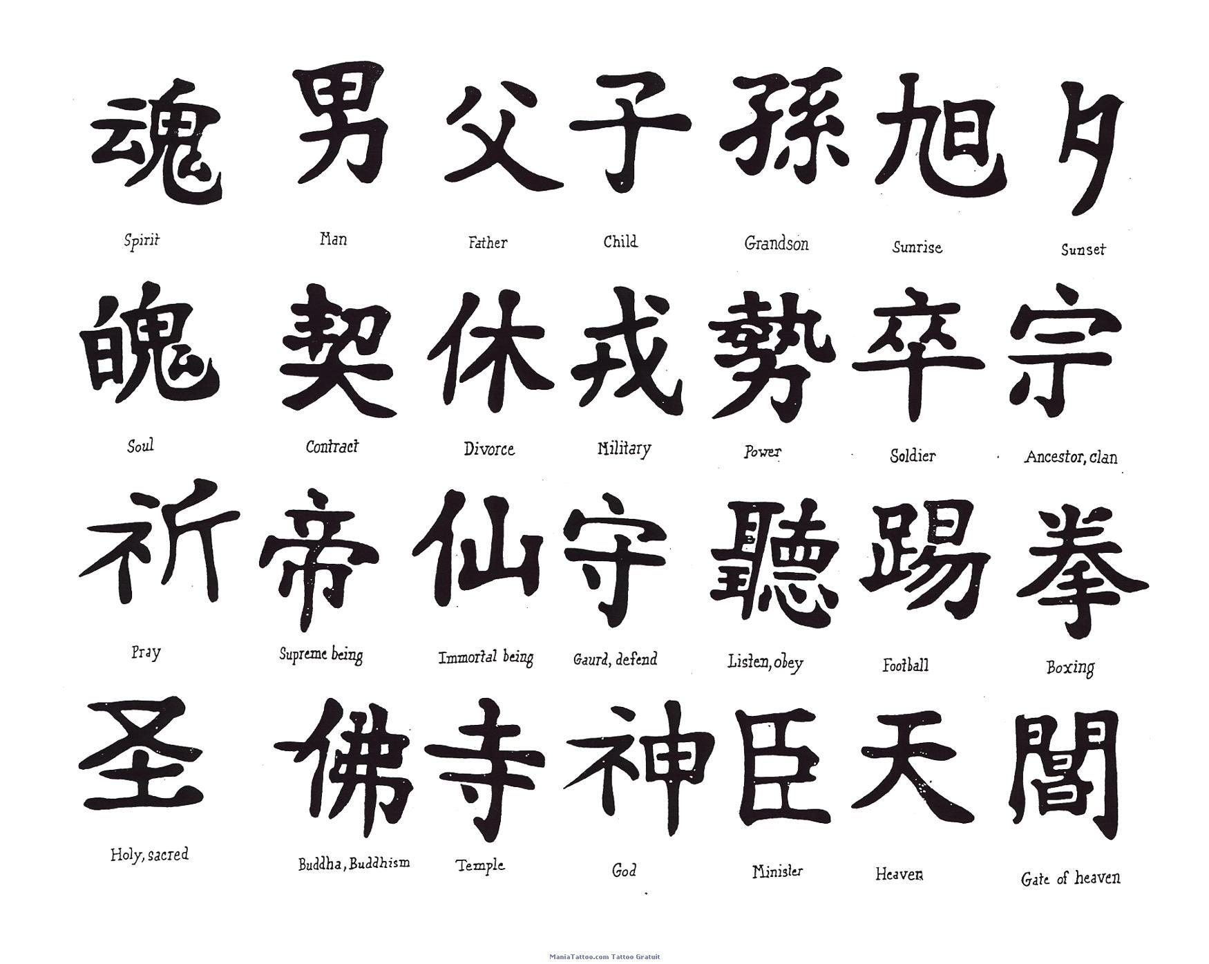 Kanji 6 Tatouages Kanji 6 Dossier Simon Tatuajes Laminas Et