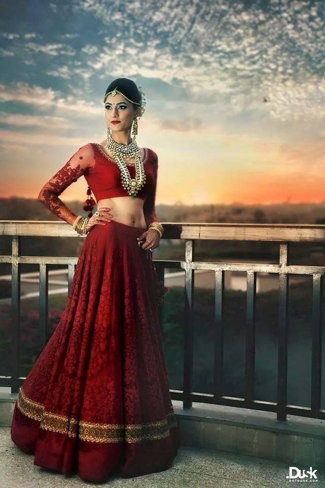 Gorgeous Red Bridal Lehenga from Sabyasachi Taking Orders!