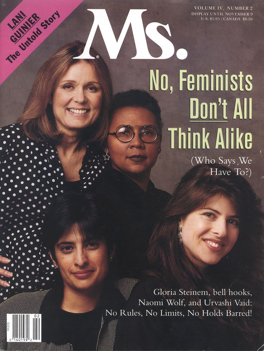 Breaking: Feminists don't all think alike. Gloria Steinem, bell hooks, Naomi  Wolf and Urvashi Vaid speak out in this issue of Ms.