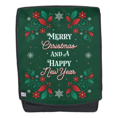 Merry Christmas and a Happy New Year Backpack   beautiful christmas decor, metallic christmas decorations, hallmark christmas decorations #christmasmood #christmasdecoration #christmasornaments