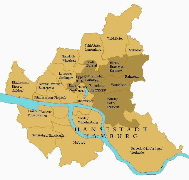 Hamburg Karte Borstels