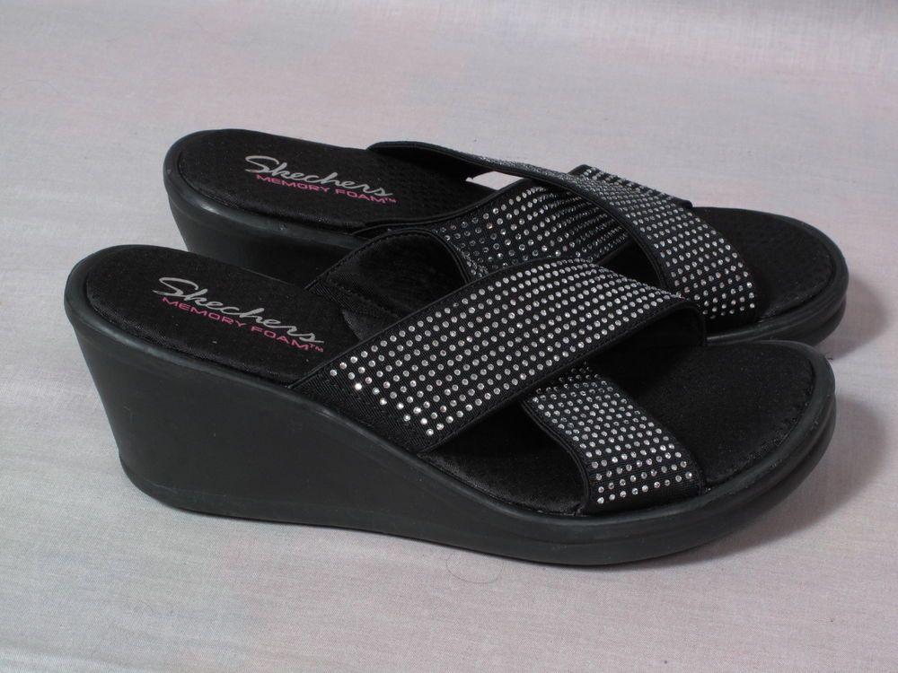 Skechers Memory Foam Sandals Black
