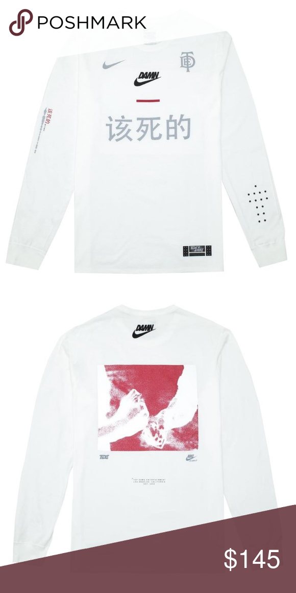 91006abd NWT Kendrick Lamar TDE x Nike Damn Long Sleeve Totally sold out everywhere  else, this is a brand new, with tags, never worn before, Kendrick Lamar x  Top ...