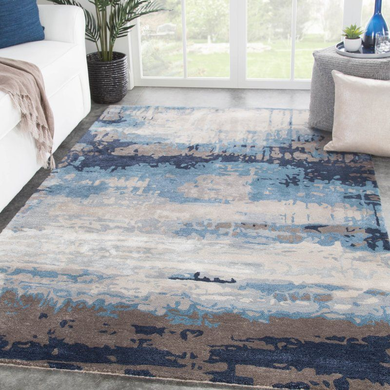Ilsted Abstract Hand Tufted Blue Gray Area Rug Cco Hanger In