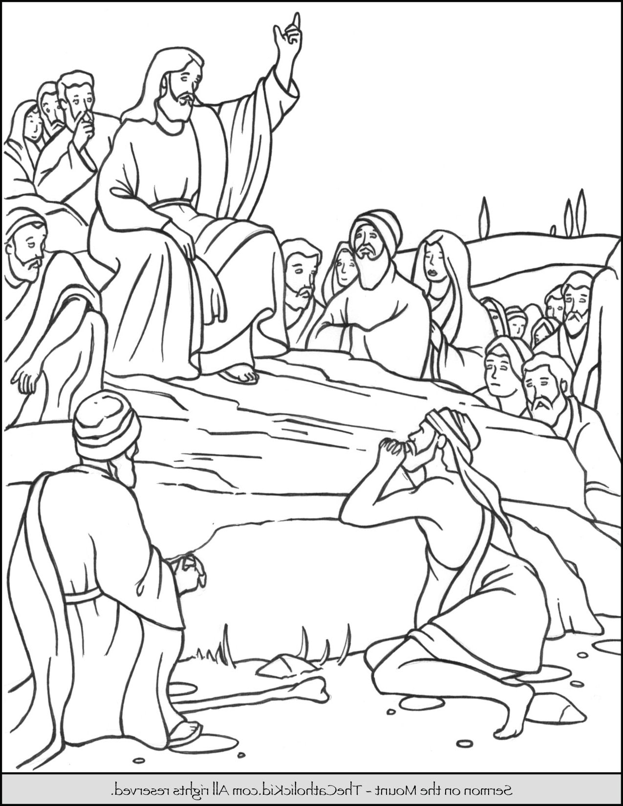 Sermon on the mount coloring page