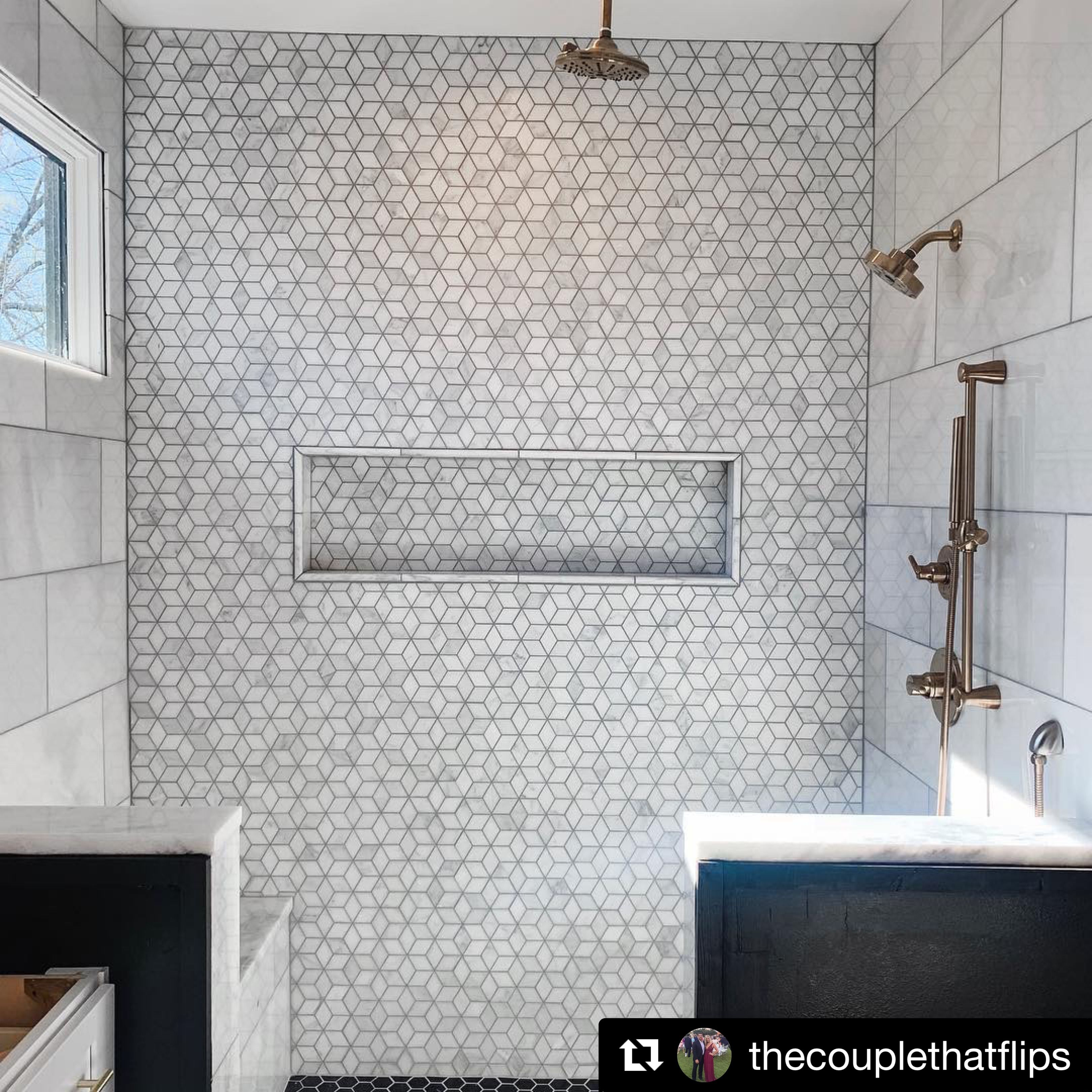 Riad Tile Casablanca Carrara Marble Diamond Bathroom Decor Colors Marble Bathroom Bathroom Decor