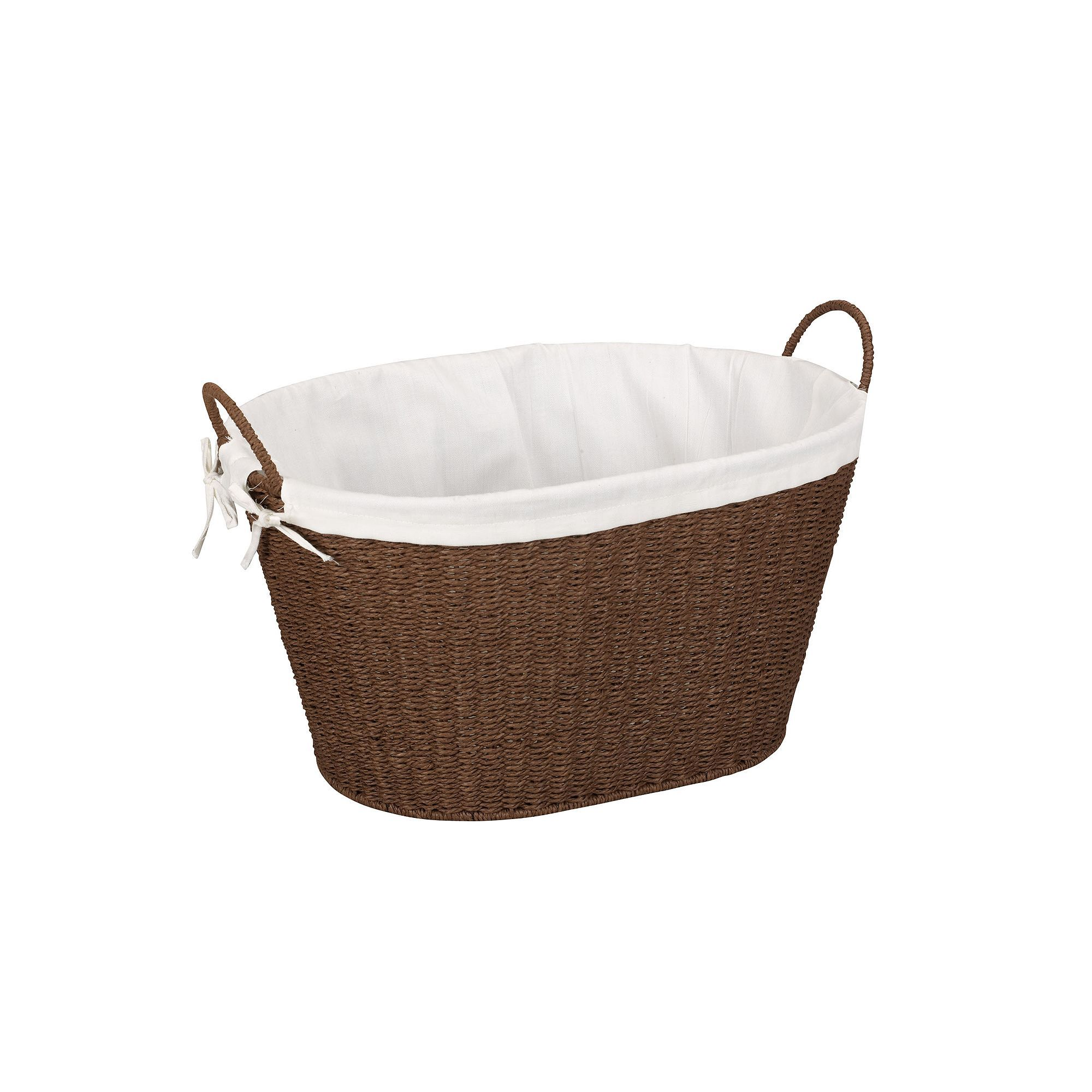 Household Essentials Lined Wicker Laundry Basket Wicker Laundry