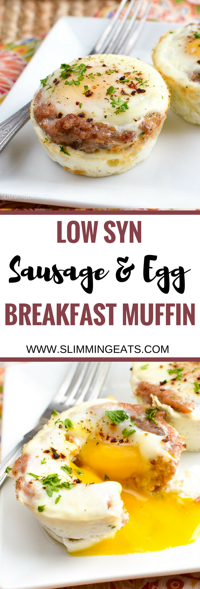 Photo of Low Syn Wurst und Ei Frühstück Muffins
