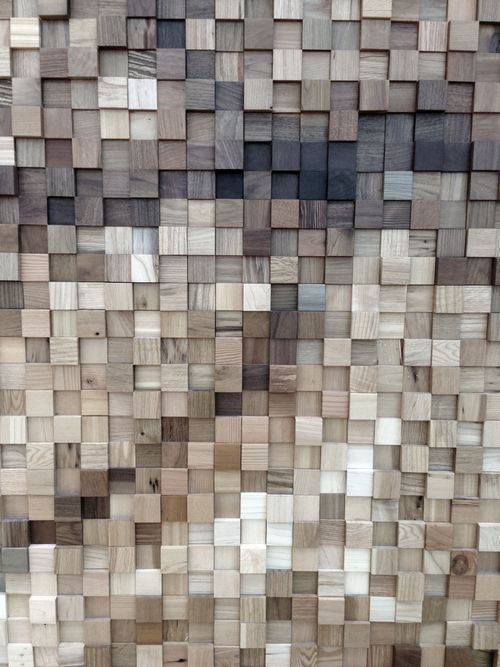 Feature wall? but with 2 x 4 ends Timber Patchwork Grey Beige - pared de madera