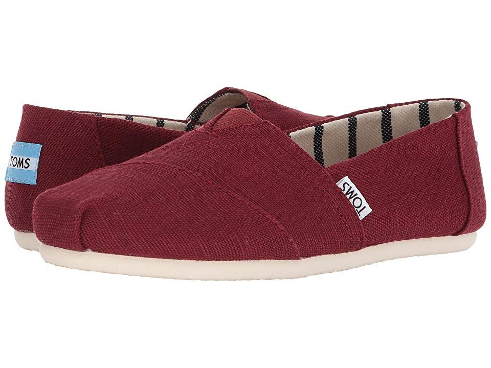 TOMS Venice Collection Alpargata Black Cherry Heritage Canvas Womens Slip on Shoes With every pair of shoes you purchase TOMS will give a new pair of shoes to a child in...