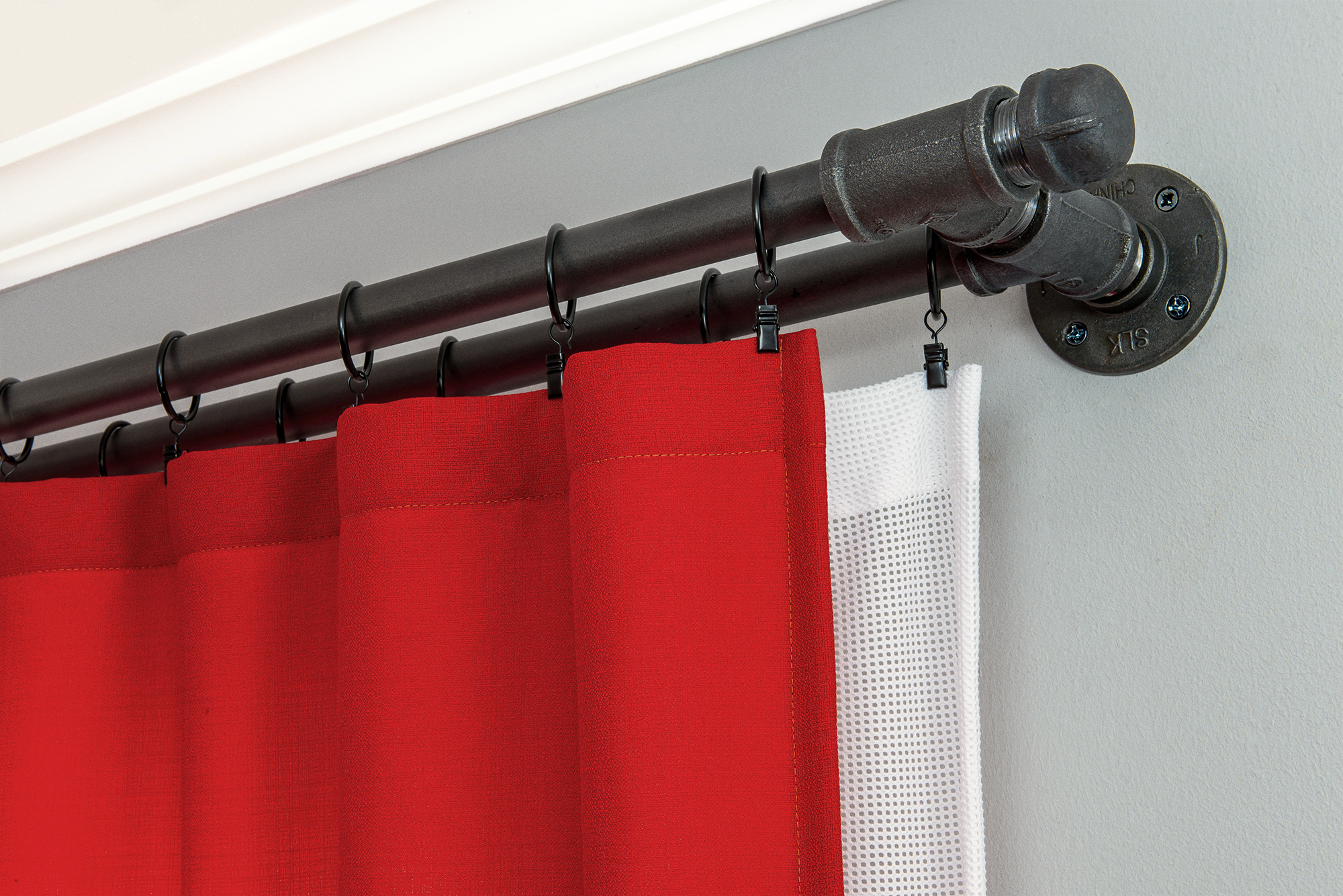 Decorative Double Curtain Rod 5 8 Diameter Kenney Black