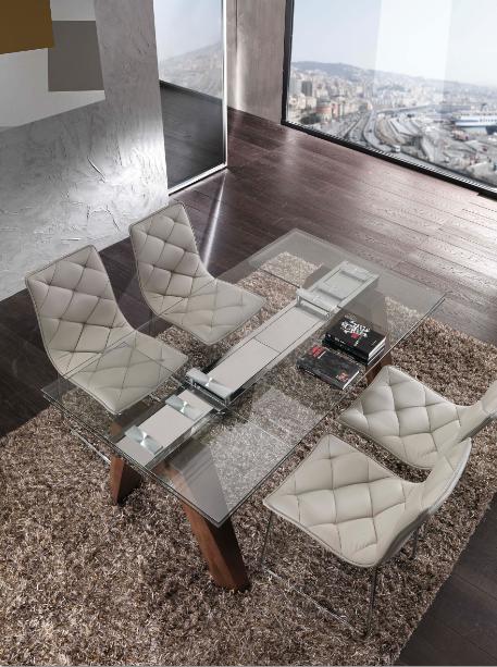 Tavoli Allungabili Ricci Casa.Shoparreda Tavolo Caronte 654 Piano Cristallo Home Design