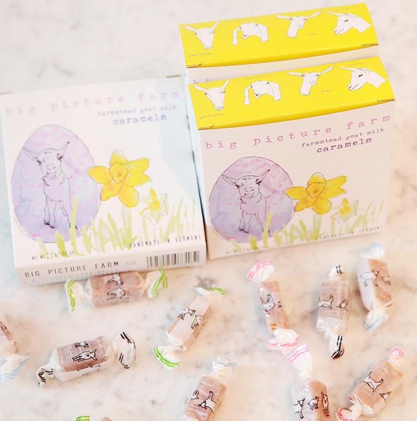 Big Picture Farm Caramels: Daffodil Box (Mix of 4 Field Flavors)