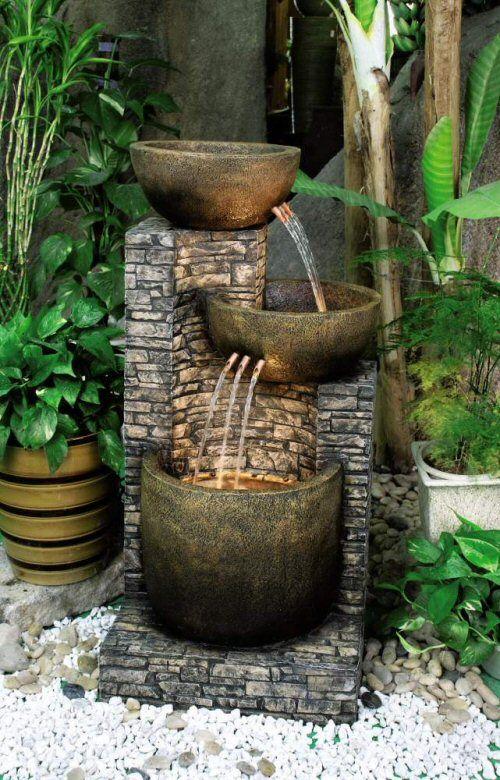 fontaine Gardening that I love Pinterest Wassergarten - Steingarten Mit Springbrunnen
