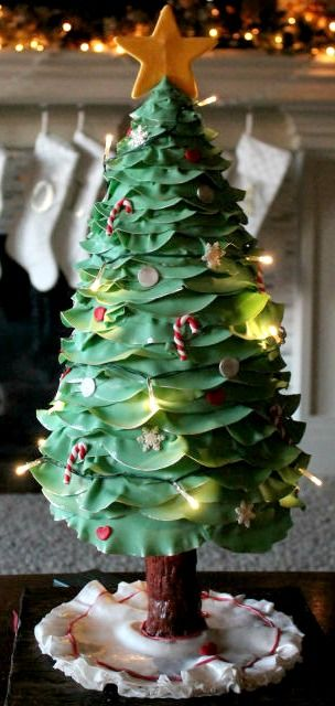 3d Lighted Christmas Tree Cake Cakes Beautiful Cakes For The