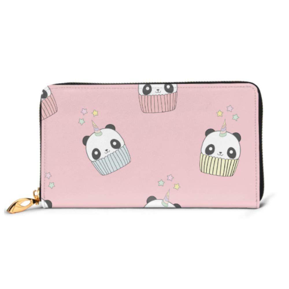 Fashion Handbag Zipper Wallet Pattern Panda Unicorn Cupcake Phone Clutch Purse Evening Clutch Blocking Leather Wallet Multi Card Organizer
