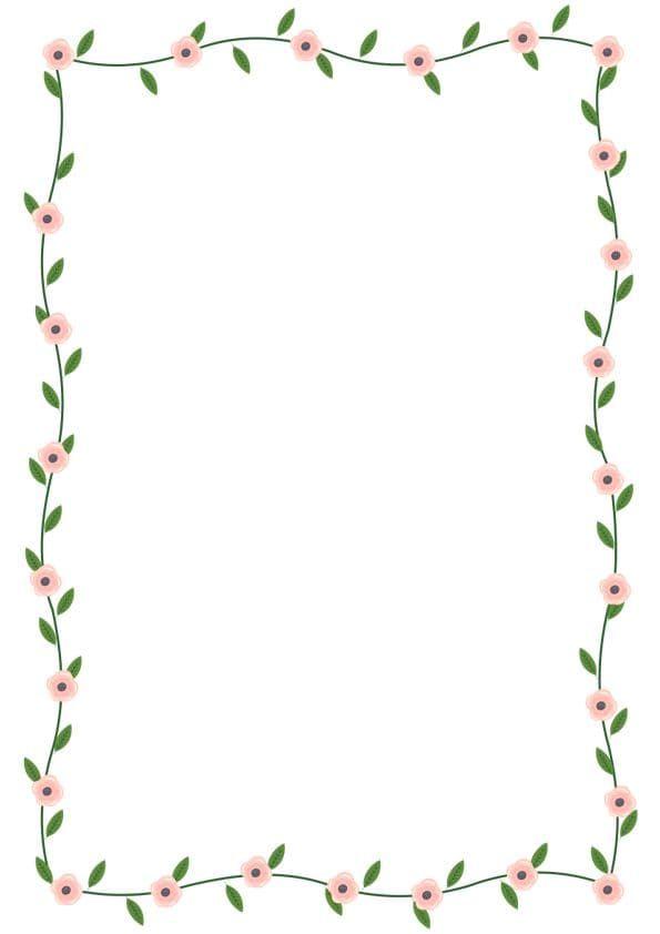 Portadas para cuadernos para imprimir 2020 【Descargar Caratulas】 | Margenes de flores, Carátulas ...