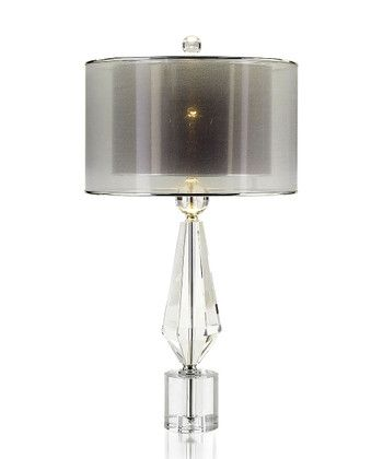 Sophisticated Crystal Lamp With Double Shade