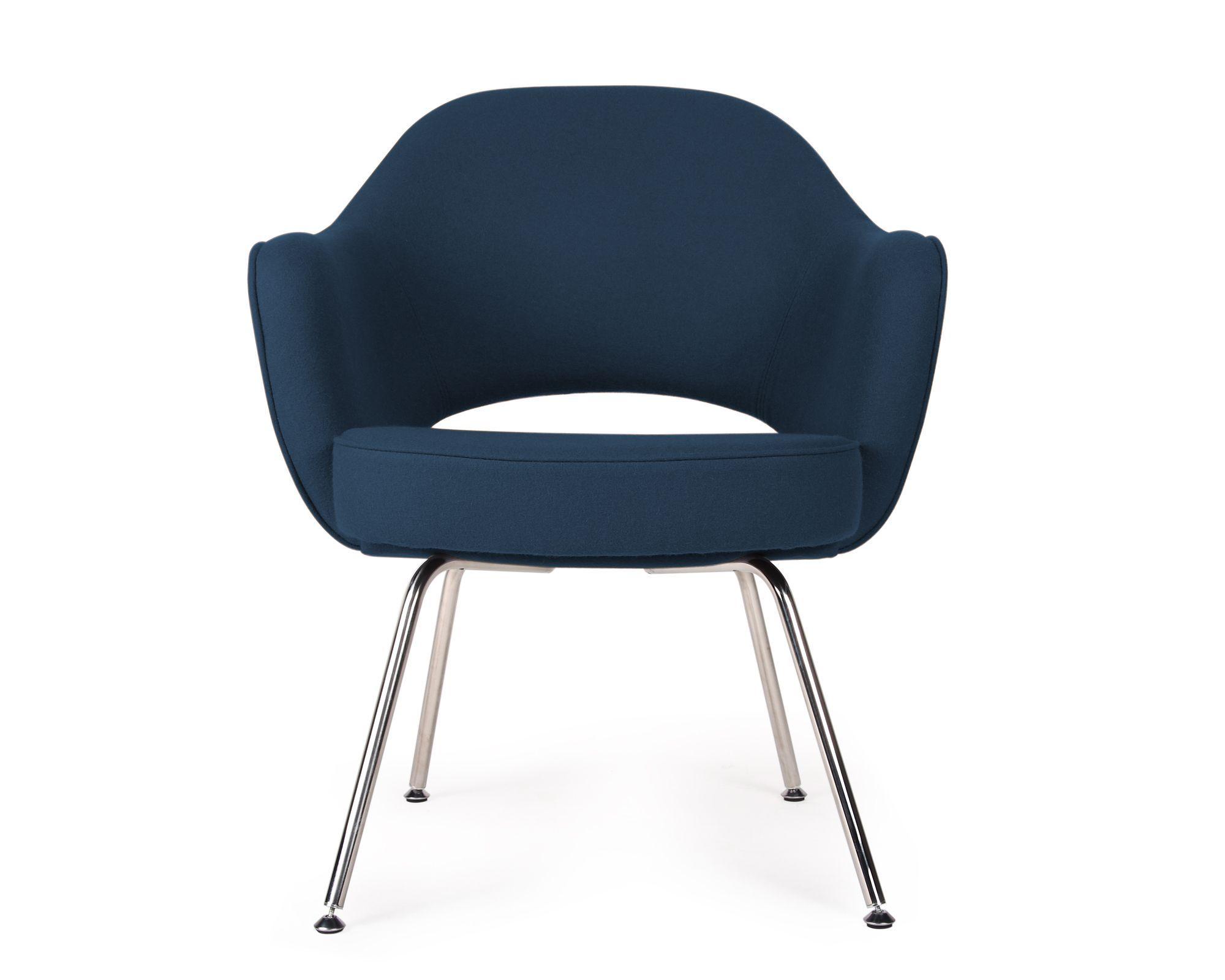 Office Guest Chair : Saarinen Executive Armchair_Boucle Wool_Twilight