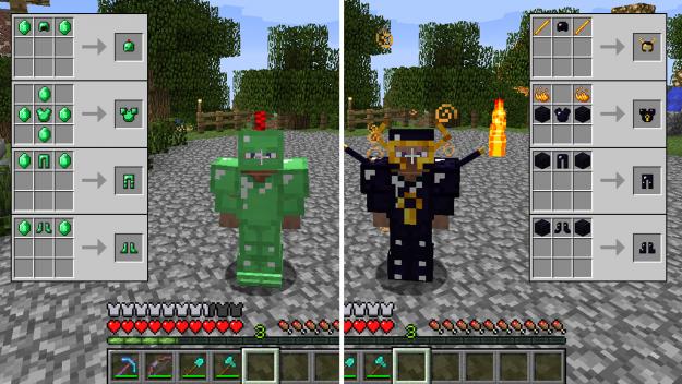 Emerald Obsidian Armor Tools Minecraft Crafts Minecraft Horse Minecraft Mods