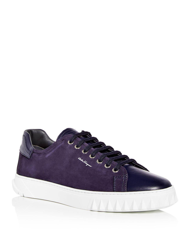 Salvatore FerragamoMen's Suede & Leather Lace Up Sneakers CejrTR1h