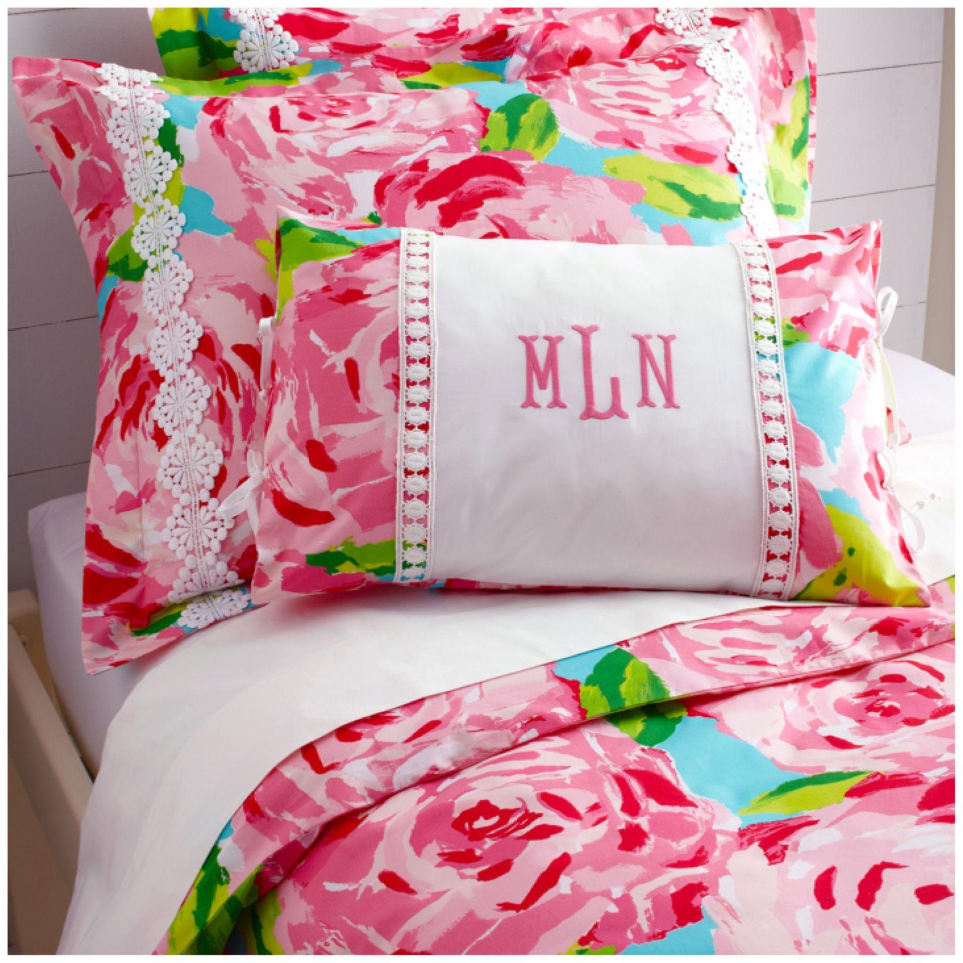 garnet hill + lilly pulitzer: first impression bedding my bedding