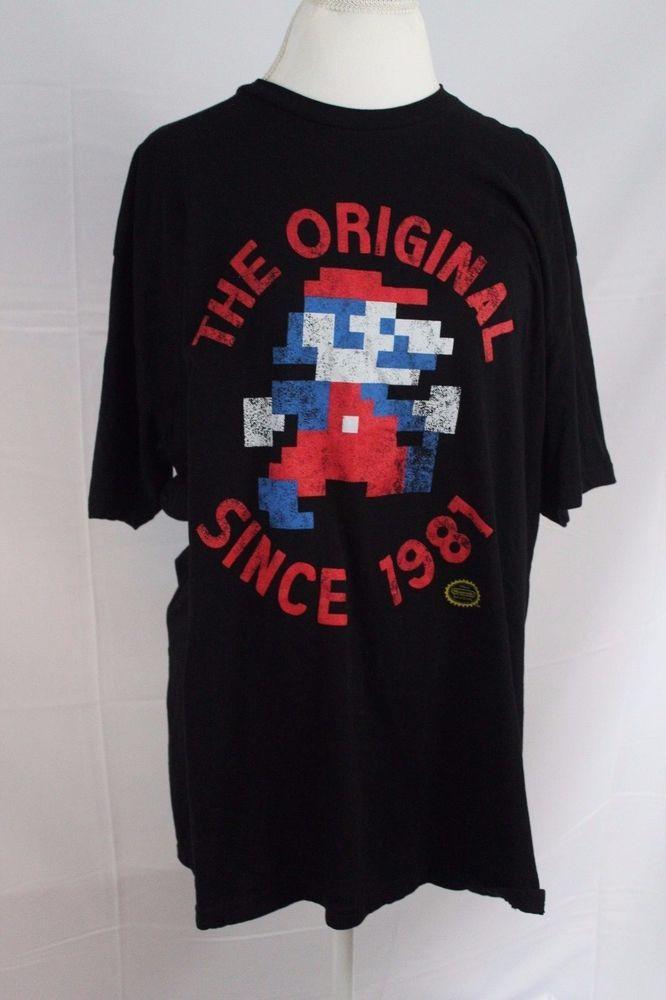 c78ec61bdd4 Nintendo Super Mario Black 2XL Mens T-Shirt