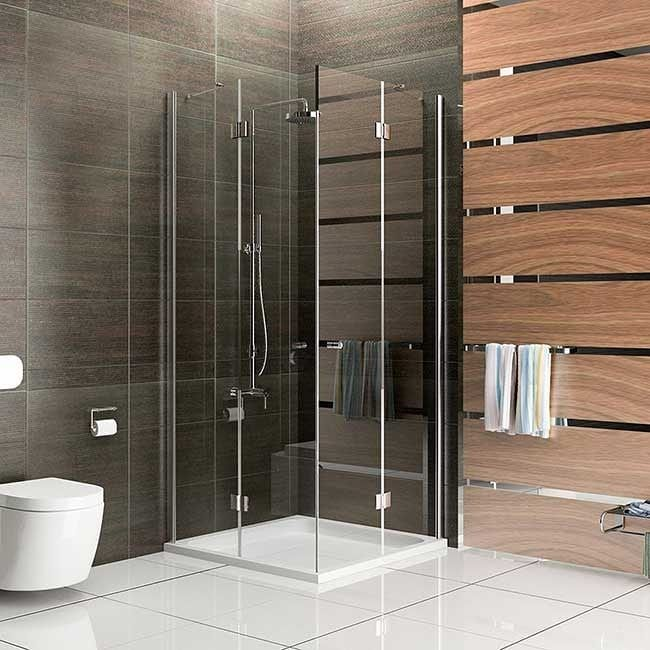 Serie Quadri Clear Eckeinstieg 2 Tür Dusche gibt es in