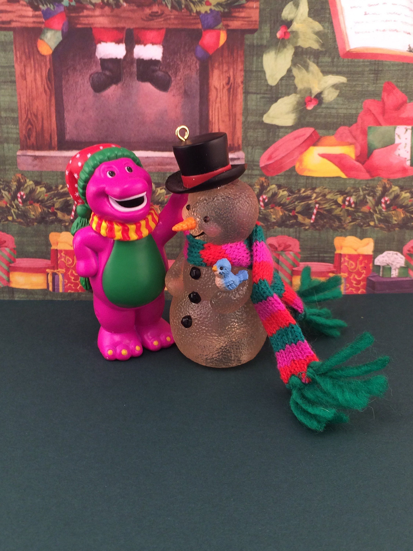 Barney The Dinosaur Christmas Tree Ornament Barney And His Etsy Dinosaur Christmas Tree Dinosaur Christmas Christmas Tree Ornaments