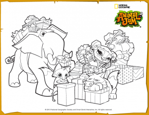animal jam coloring pages jamaalidays - photo#2