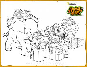 Animal Jam Jamaalidays Scene Coloring Page | Animal Jam ...