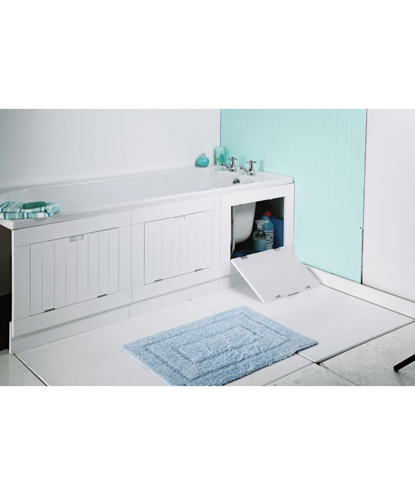 Buy Lavari Hideaway Bath Panel Matt White Bath Panels White Bath Panel Bath Panel Simple